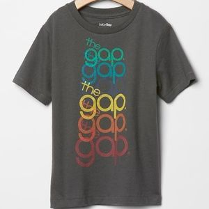 Baby Gap shirt THE GAP LOGO top rainbow unisex